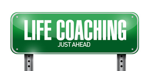 life coaching street sign illustration design