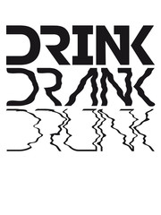 Cool Drink Drank Drunk Text Logo