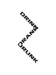 Cool Drink Drank Drunk Logo Design
