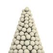 White soccer balls peak