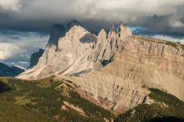 eroded cliffs in Dolomites