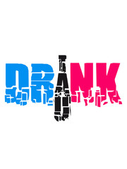 Drink Drank Drunk Party Design