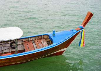 Long tail wooden boat