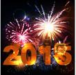 2015 happy new year celebration background