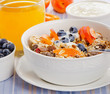 canvas print picture - Muesli with yogurt  and berries.Traditional healthy breakfast .