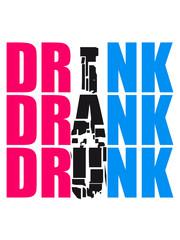Beer Drink Drank Drunk Logo Design