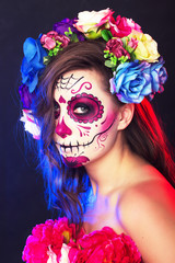 Halloween face art calavera
