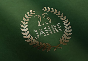 25 Jahre - Lorbeer - Leder