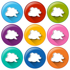 Buttons with cloud callout templates