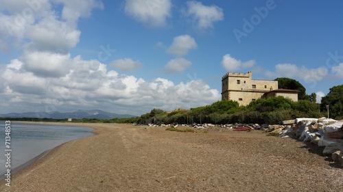 canvas print picture Villa al mare