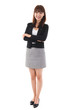 Full length Asian businesswoman