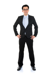 Asian businessman in formal suit