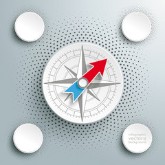 White Paper Compass Infographic Halftone 4 Options