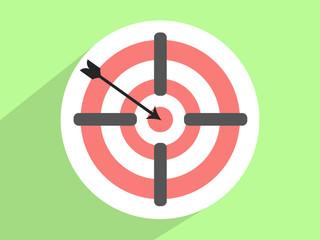 Target  ,Flat design style