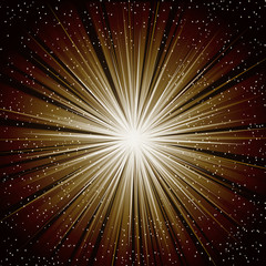 A brown color design with a burst. lens flare.