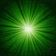 A green color design with a burst. lens flare.