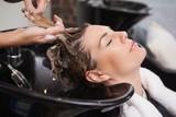 Fototapety Customer getting their hair washed