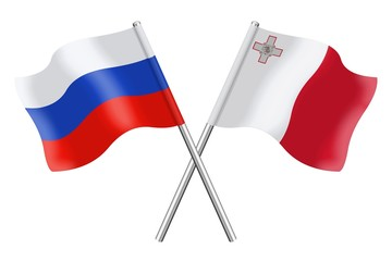 Flags: Russia and Malta