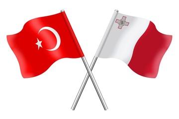 Flags: Turkey and Malta