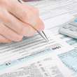 United States of America Tax Form 1040 - 1 to 1 ratio
