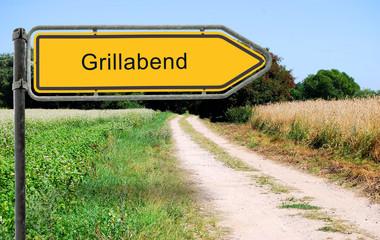 Strassenschild 21 - Grillabend
