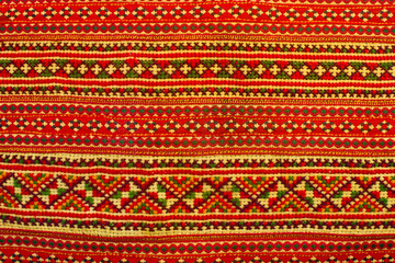 fabric background in tribal style, woven natural product