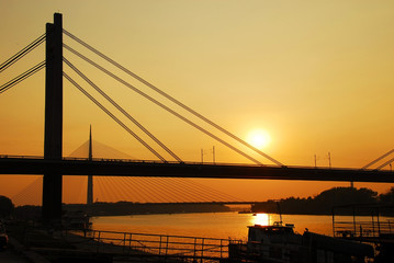 Bridges at Sava River in Belgrade