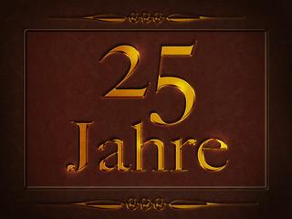 25 Jahre- Gold - Leder - Ornament