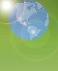 Vector silhouette globe.