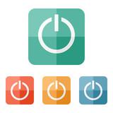 Start power button icon poster