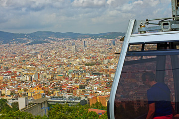 View to Barcelona.