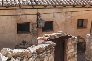 Vista de la antigua ciudad de Albarracin, Teruel, Espana