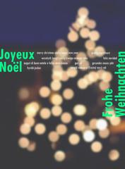 Grußkarte mit Weihnachts- und Neujahrswünschen