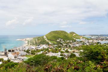 Coast of St Martin and Sugar Factory