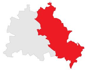 Ost-Berlin in rot