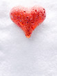 canvas print picture - Heart in the snow