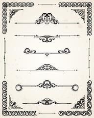 Vector Page Decoration Elements