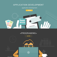 Set of Flat Design Concepts for Web Application Development