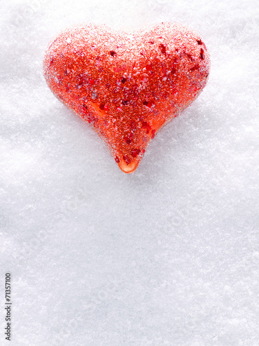 canvas print picture Heart in the snow
