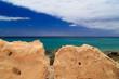 canvas print picture - Fuerteventura Steine vor Meeraussicht