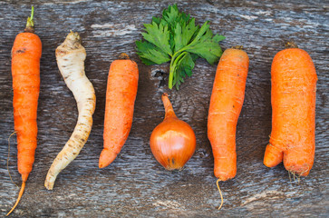 Healthy vegetables for soup