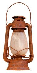 Rusty oil lantern