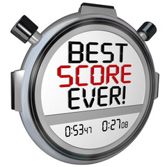 Best Score Ever Timer Stopwatch Record Breaking Performance