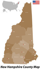 New Hampshire County Karte