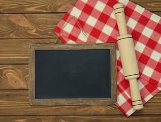 Writing board napkin and rolling pin