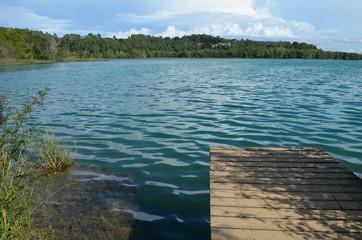 pier on Lake de banyolas