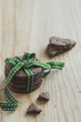 Cookies with green ribbon