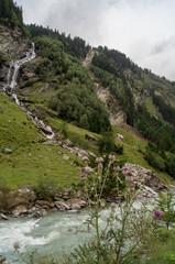 Wasserfall des Seebachs nahe Matrei in Osttirol