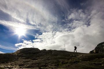 Escursionista di montagna
