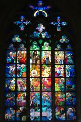 Kirchenfenster im Prager Veitsdom